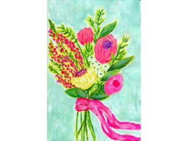 """Leinwandbild """"Bouquet Ribbon"""" von Jill Lambert, Kunstdruck"""