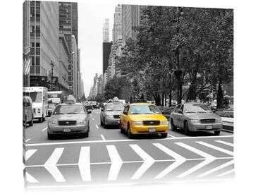 Leinwandbild ,,Viele Taxis in New York von Martha de jong-lantink, Grafikdruck
