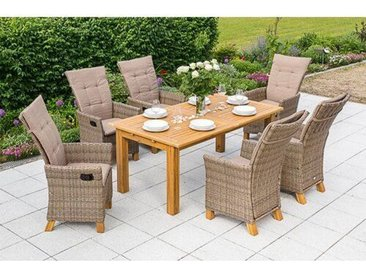 6-Sitzer Gartengarnitur Toskana mit Polster