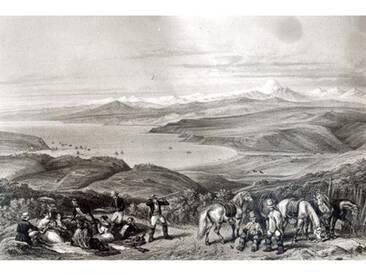 "Poster Distant View of the Aconcagua Volcano from ""Historia De Chile von Claudio Gay, Kunstdruck"