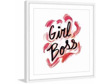 Gerahmtes Papierbild Girl Boss von Sarah Patrick