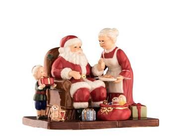 Dekorationsfigur Weihnachtsmann und Frau