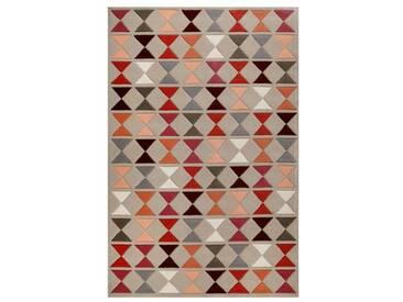Handgefertigter Teppich Mahan aus Wolle in Taupe
