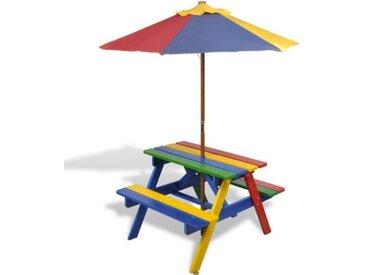 2-tlg. Kinder Picknicktisch und Bank-Set