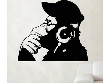 Wandtattoo DJ Monkey