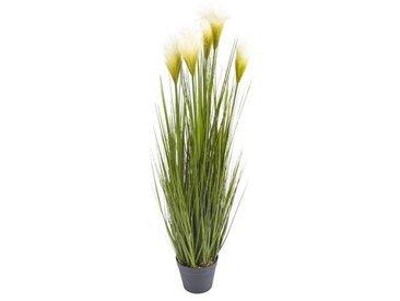 Künstliche Graspflanze im Blumentopf