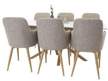 Essgruppe Negrete mit 6 Stühlen