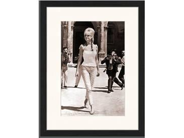 Gerahmtes Poster Brigitte Bardot in Rom