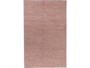 Handgefertigter Kelim-Teppich Leonardo aus Wolle in Rot