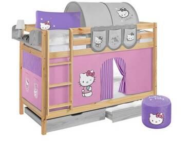 Etagenbett Hello Kitty mit Hochbettvorhang, 90cm x 200cm