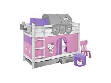 Etagenbett Hello Kitty mit Hochbettvorhang, 90cm x 190cm