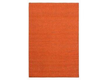 Handgefertigter Kelim-Teppich Kraus in Orange