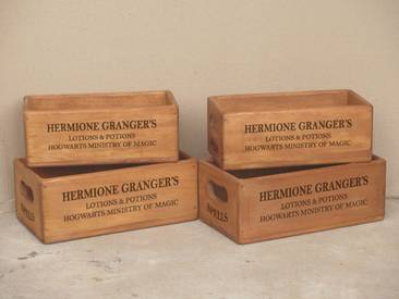 5-tlg. Kisten-Set Hermione Granger aus Massivholz