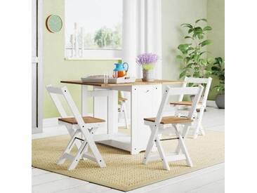 Essgruppe Southchase mit klappbarem Tisch und 4 Stühlen