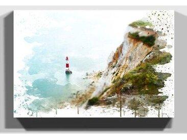 Wandbild Klippen und Leuchtturm