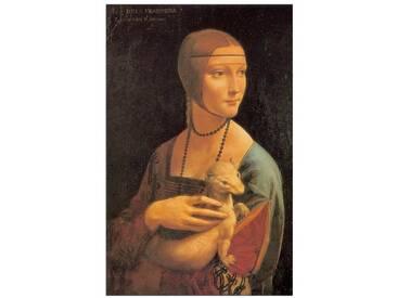 Poster Dame mit Hermelin von Leonardo Da Vinci, Kunstdruck