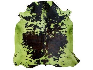 Teppich Normand aus Kuhfell in Pistaziengrün