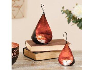 2-tlg. Kerzenleuchter-Set aus Metall