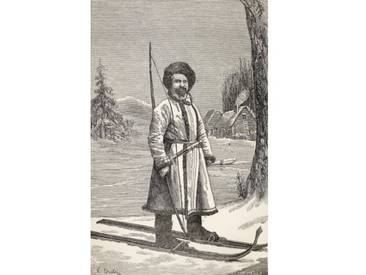 A Native of Votiak, Russia, from From Paris to Pekin over Siberian Snows by Victor Meignan, Engraved by Smeeton-Tilly and Auguste Tilly), Published 1889 von Louis Breton