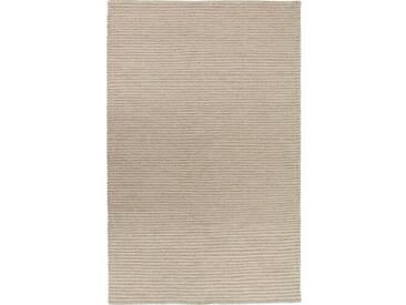 Handgefertigter Kelim-Teppich Leonardo aus Wolle in Sandfarben