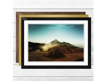 Gerahmtes Poster Volcano Iceland, Fotodruck