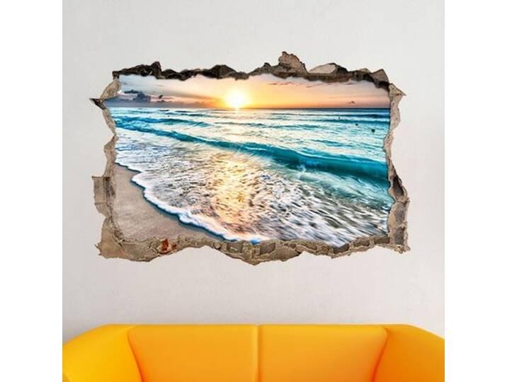 Wandtattoo Wundervoller Sonnenuntergang am Meer...
