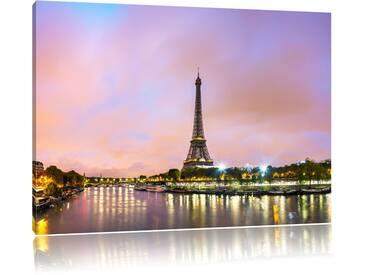 """Leinwandbild """"Eifelturm Paris bei Nacht"""", Fotodruck"""