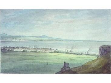"""Poster """"Leith, with Kirkaldy on the Coast of Fifeshire"""" von John White Abbott, Kunstdruck"""