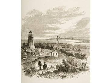 Poster Sandy Hook New Jersey, Seen from the Lighthouse in the 1870s, C. 1880, Kunstdruck von Reverend Samuel Manning