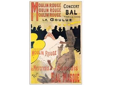 """Paneel """"La Goulue"""" von Henri de Toulouse-Lautrec, Retro-Werbung"""