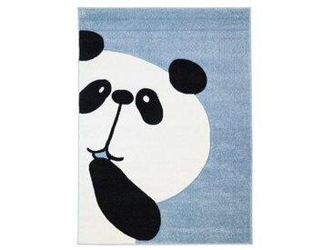Kinderteppich Panda Bär in Blau/Weiß