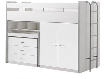 Hochbett Bonny mit Möbel-Set, 90 x 200 cm