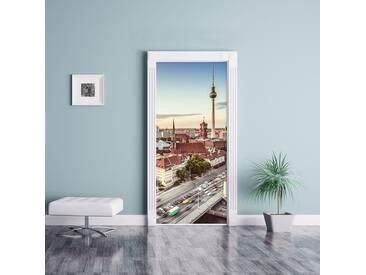 Türaufkleber Skyline von Berlin