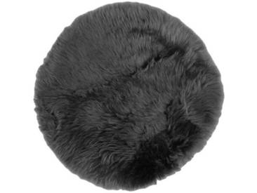 Teppich Cyprian aus Schaffell in Dunkelgrau