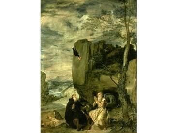 Leinwandbild St. Anthony The Abbot and St. Paul The First Hermit von Diego Velázquez