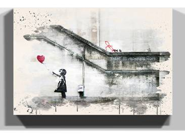 Leinwandbild Girl with Balloon von Banksy