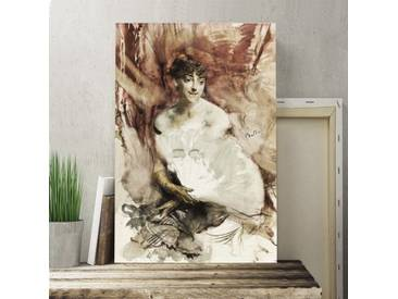 "Leinwandbild ""Woman with a Fan von Giovanni Boldini, Kunstdruck"