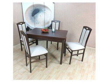 Essgruppe Santamaria mit ausziehbarem Tisch und 4 Stühlen
