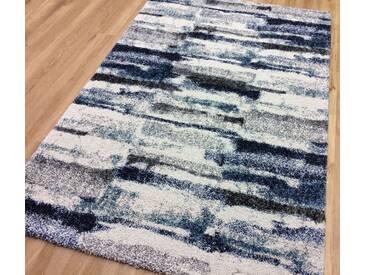 Teppich Berber in Grau/Blau