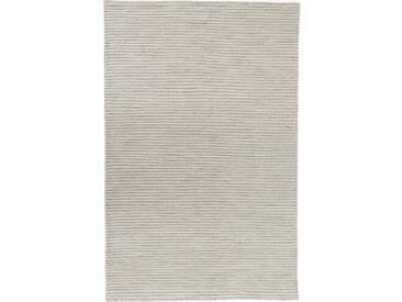 Handgefertigter Kelim-Teppich Leonardo aus Wolle in Silber
