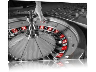 """Leinwandbild """"Großer Roulette Tisch, Grafikdruck"""