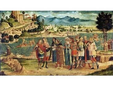 Leinwandbild Laomedon Refuses Apollo and Poseidon their Reward, 1500, Kunstdruck von Italian School
