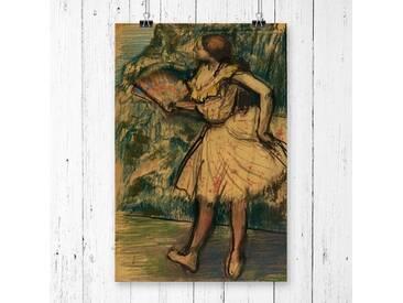 """Poster """"Dancer with a Fan"""" von Edgar Degas, Kunstdruck"""