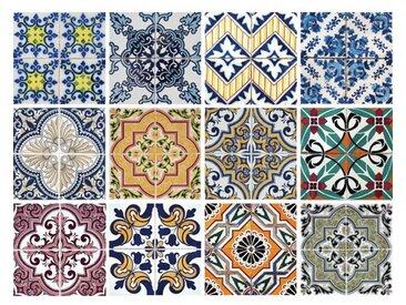 12-tlg. Selbstklebendes Mosaikfliesen-Set Meja aus PVC