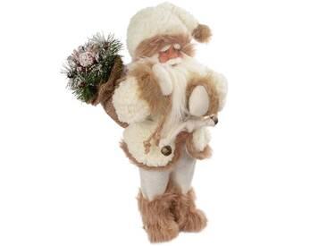Dekorationsfigur Weihnachtsmann mit Geschenken