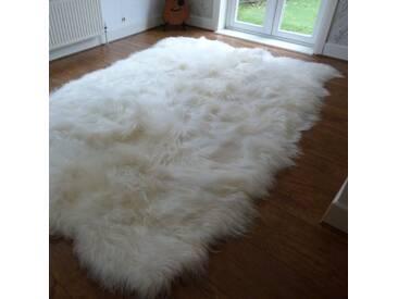 Teppich Toby aus Schaffell in Elfenbein