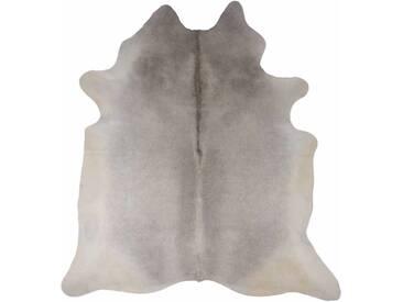 Handgefertigter Teppich aus Kuhfell in Grau