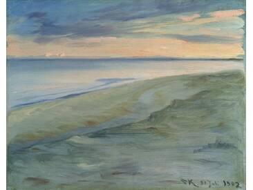 Leinwandbild The Beach Skagen, 1902, Kunstdruck von Peder Severin Kroyer