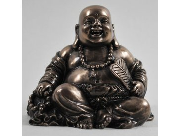 Figur Glücklicher Buddha mit Perlen