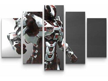 5-tlg.Leinwandbilder-SetSoldat der Zukunft